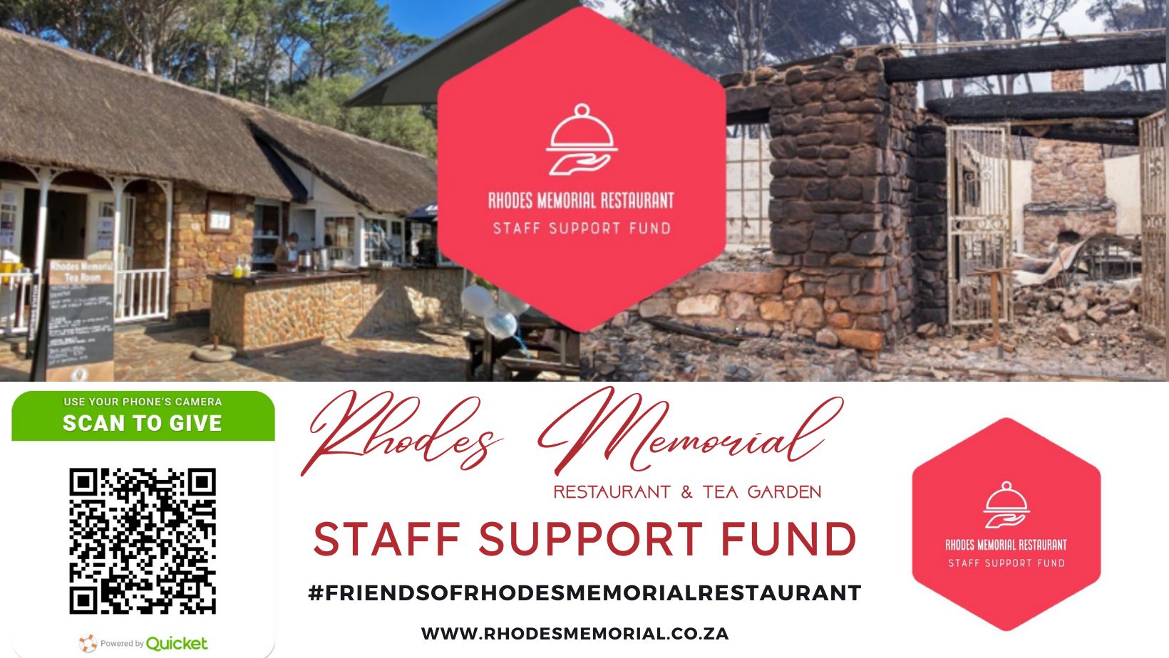 Donate to the Staff of Rhodes Memorial Restaurant Table Mountain Fires